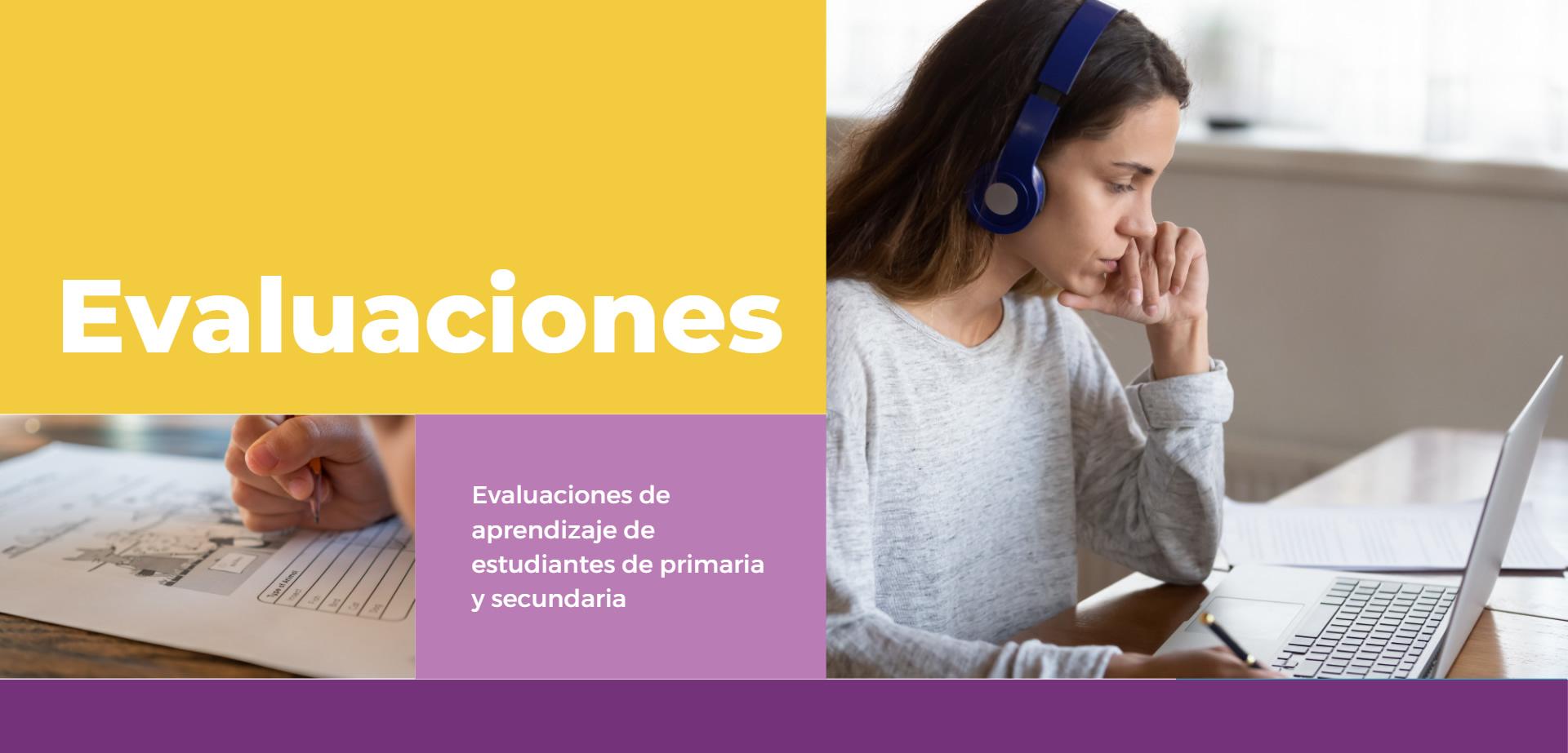 Imagen de sección Evaluaciones mostrando Chica con auriculares