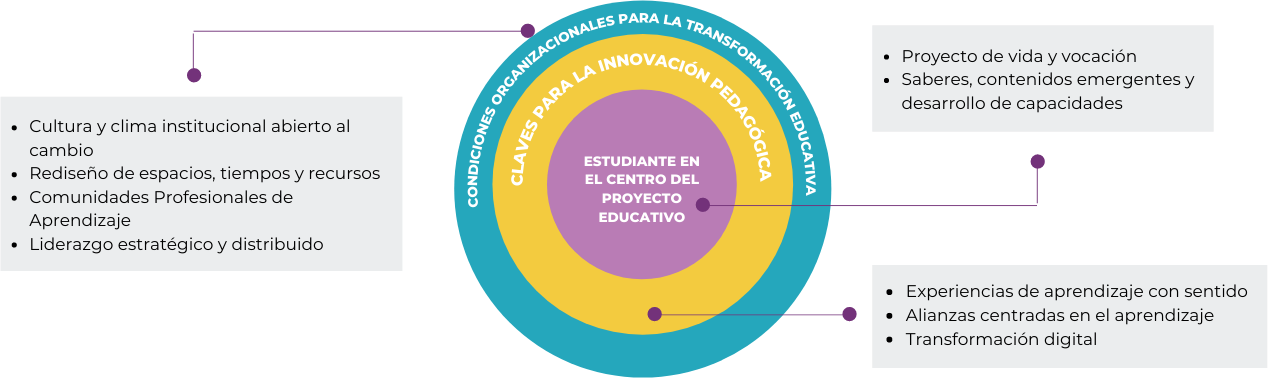 Gráfico de Modelo de Educación con Recuadros e información